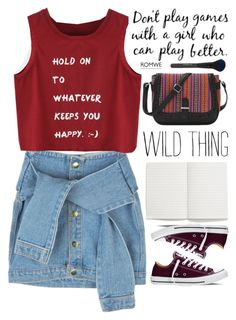 """""""wild thing"""" by scarlett-morwenna ❤ liked on Polyvore featuring Converse, Madewell and vintage"""