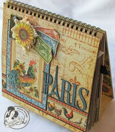 Scraps of Life - French Country Album using 8X8  shows all the pages. Awesome!!!
