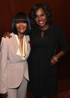 """Cicely Tyson and Viola Davis attend The L. Times' Envelope screening of """"How To Get Away With Murder"""" at ArcLight Sherman Oaks on May 2015 Black Actresses, Black Actors, Black Celebrities, Female Actresses, Actors & Actresses, Celebs, My Black Is Beautiful, Beautiful People, Beautiful Women"""