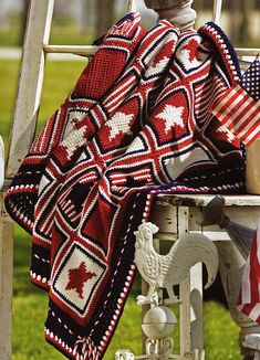 Ravelry: Star Spangled Afghan pattern by Susan Lowman  http://www.ravelry.com/patterns/library/star-spangled-afghan