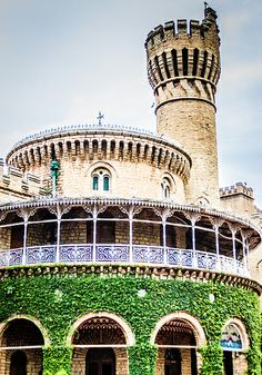Bangalore Palace, India. The construction of the palace was started in 1862 and completed in 1944. In 1884, it was bought by the then Maharaja of Mysore HH Chamarajendra Wadiyar X. It is now owned by the Mysore royal family. (V)