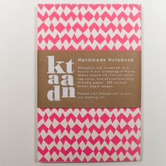 Ktaadn | Pink Geometric Notebook    renegadecraft.com/brooklyn-holiday-artists