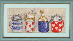 Aida 14ct flaxen cloth Cross stitch set Cats hide in the cups package cute animal pattern kit embroider DIY handmade needlework-in Aida Cloth from Home & Garden on Aliexpress.com   Alibaba Group