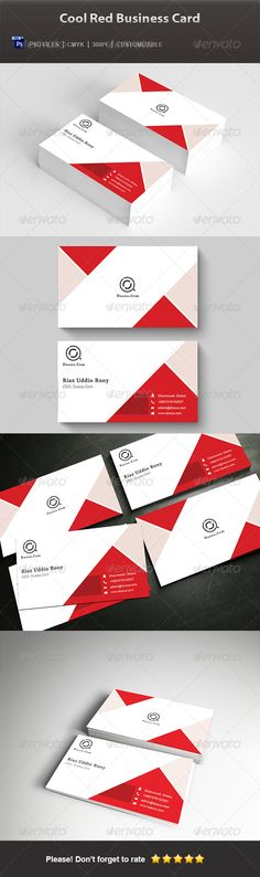 Creative Business Cards: Cool Red Business Card