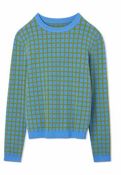 Tory Sport Tech-Knit Checked Sweater