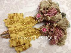Glands, Textured Yarn, How To Make Ribbon, Passementerie, Curtain Tie Backs, Make Happy, Drapery, Burlap Wreath, Window Treatments