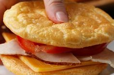 Feel Light And Free With This Easy Cloud Bread Recipe = More of a flattened omelet than actual bread. I'd try adding some other ingredients, like a sprinkle of chive or bits of ham,  and eat it on its own.