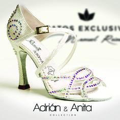 Zapatos de baile Reina - Collection Anita Pearl - Hand Made - Made in spain