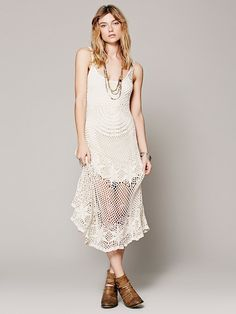 Free People Sunny Day Crochet Dress at Free People Clothing Boutique