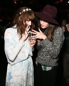 Florence Welch and Alexa Chung by nylonmagazine, via Flickr