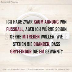 Ich habe zwar kaum Ahnung von Fußball, aber ich würde schon gerne mitreden wollen. Wie stehen die Chancen, dass Gryffindor die EM gewinnt?