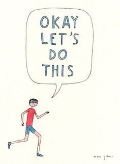 cuteandcomfortable:    started my day with a 6am class at the gym. i'm ready to dominate this week!  (fun print via Marc Johns: okay let's do this)