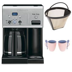 Cuisinart CHW-12 12-cup Programmable Coffee Maker w/ Gold Tone Basket Coffee Filter and Knox 16oz. Mug With Spoon (2 Pack) -- A special product just for you. See it now! : Coffee Maker