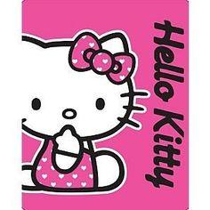 Girls/Kids Hello Kitty Fleece Blanket/Throw (120 cm x cm) (Pink) 150