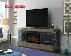 DIMPLEX Electric Fireplace, TV Stand, Media Console & Entertainment Center with Cabinet, Rake Sand, Electric Logs - Axel Fireplace Media Console, Dimplex Electric Fireplace, Electric Fireplace Tv Stand, Electric Fireplace Entertainment Center, Entertainment Centers, Entertainment Products, Bed Lights, Glass Cabinet Doors, Fireplace Design
