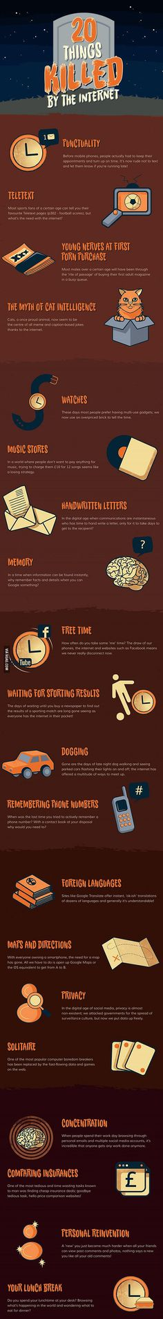 20 Things That The Internet Has Killed... 21 including my social life skills.