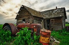 Old Tractor and Homestead