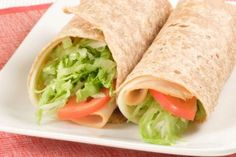 Post-workout dinner: turkey, low-fat cheddar & tomato wrap