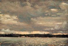 Vue sur un lac Sunset Sky de Thomas Thompson (1877-1917, Canada)