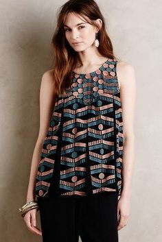 Akemi + Kin Kalila Embroidered Tank #anthrofave