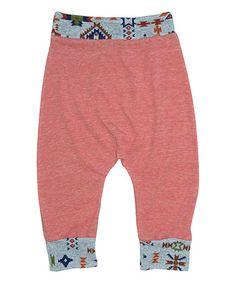 Look what I found on #zulily! Powder Orange Geometric Joggers - Infant, Toddler & Girls #zulilyfinds
