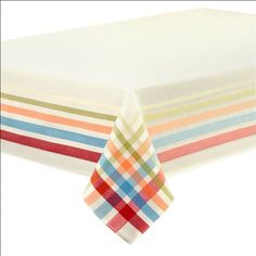 "Fiestaware Table Linens, Classic Plaid 60"" x 102"" Tablecloth"
