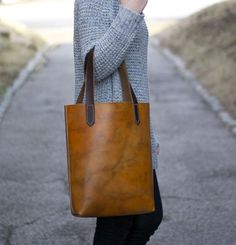 The Carrie B - Leather Tote Bag | MADE SUPPLY CO. #leather #tote #bag