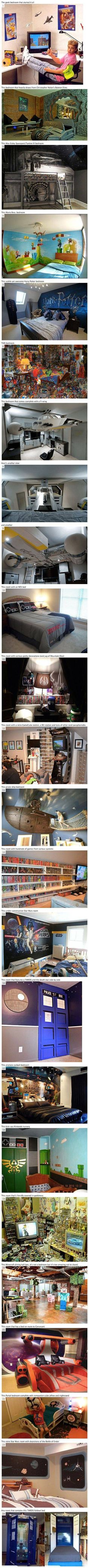 Some cool and geeky bedrooms, that think outside the box.