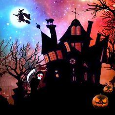 Spooky Halloween Pictures, Happy Halloween Gif, Snoopy Halloween, Halloween Eve, Halloween Rocks, Spooky Halloween Decorations, Halloween Cartoons, Homemade Halloween, Halloween Horror