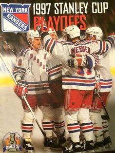1997 Rangers Playoff program #Messier