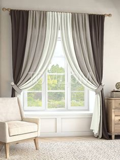Комплект штор «Кони (графит/серый/экрю)». Curtain StylesCurtain Designs Window Treatments Living Room CurtainsCurtain Ideas ...