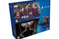 Oferta hoy, 11 del 11 en The Shop Gamer en eBay España. Consola PS4 Slim 500 GB + PES2017 + Call of Duty Black Ops III por solo 289,95€ con envío rápido y GRATIS