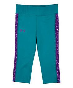 Another great find on #zulily! Teal & Indigo Celestial Capri Pants - Little Girls by Under Armour® #zulilyfinds (for Bella)