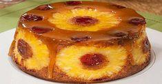 Food Cakes, Cupcake Cakes, Portuguese Desserts, Portuguese Recipes, Sweet Recipes, Cake Recipes, Custard Pudding, Pineapple Cake, Homemade Cakes