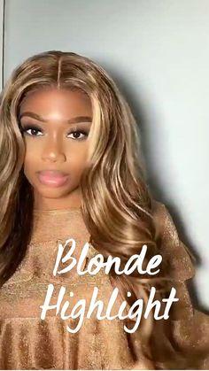 Honey Blonde Highlights, Body Wave Wig, Beautiful Black Girl, Wigs, Long Hair Styles, Beauty, Make Up, Long Hairstyle, Long Haircuts