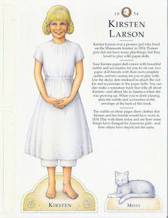 American Girl Kirsten Paper Doll.This From Freebird583 - Nena bonecas de papel - Picasa Web Albums