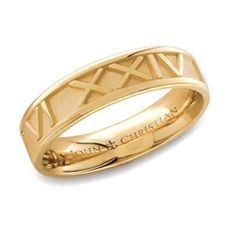 Size 6 Roman Numeral Ring Medium 14K.  I would love this with my anniversary date on it!