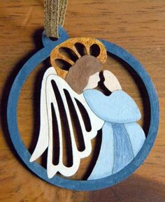 Angel Ornament - Wood Hand Painted