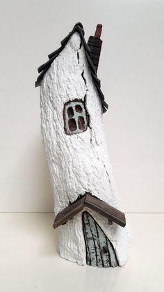 ooak Original handmade wooden fairy house ornament