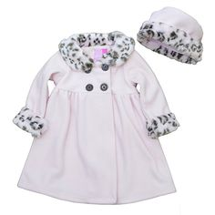 1219dce8d748 Amazon.com  Good Lad Toddler pink animal trimmed fleece coat with matching  hat