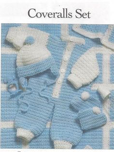 Easy Quick Crochet Pattern Baby Infant Boy by NanasVintagePatterns
