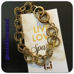 """T&J Designs Chain Link Bracelet! T&J BRACELET- Antique Chain Link! Beautiful classic look. Normally Retails for $36.00. Gold plated, mixed with hypoallergenic alloy metals, will fit up to 7"""" wrists. Mix and match with other bracelets in my closet and save 10% on a Bundle! I have 5 Available; price is for EACH. ⛔️Price Firm⛔️ T&J Designs Jewelry Bracelets"""