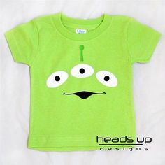 ca6214e5b Details about Toy Story Alien Shirt Boy Girl Baby Newborn Bodysuit Kid  Adult Costume