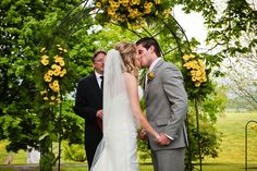 {Real Wedding} A Yellow & Gray Farm Celebration - yellow daisy aisle flowers, perfect choice for a rustic farm wedding