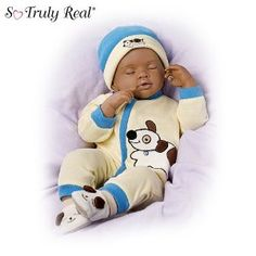 Ashton-Drake African-American Breathing Baby Boy Doll Marcus in Dolls & Bears, Dolls, By Brand, Company, Character Live Baby Dolls, Life Like Baby Dolls, Life Like Babies, Cute Babies, Reborn Toddler Dolls, Newborn Baby Dolls, Reborn Dolls, Reborn Babies, Dolls Dolls