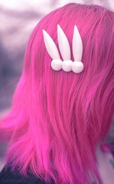 Perfect Sailor Moon hair clips. Kuma Crafts