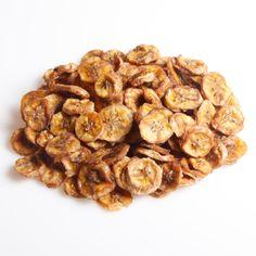 Bananchips - sundt og lækkert. Sunde snacks til enhver lejlighed. Se de mange nøddetyper på:  http://www.frugtkurven.dk/noeddekurve/Noedderne