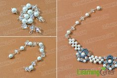 make the rest part of the blue flower pearl bead necklace
