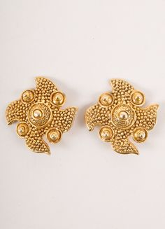 Christian Lacroix Textured Four Point Earrings – Luxury Garage Sale
