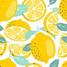 Lemony Fresh Pattern Wallpaper